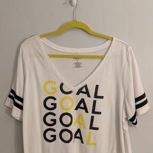 torrid Tops - 3/$25 Torrid Active Goal Soccer V Neck Tee Shirt